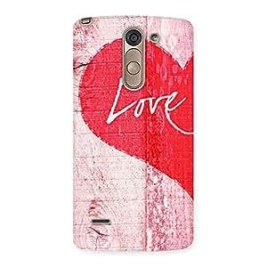 Impressive Love Pink Multicolor Back Case Cover for LG G3 Stylus