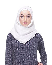 Modest Forever Glittering White Casual Hijab / Scarf