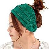 (カジュアルボックス)CasualBox ビスコースバンダナターバンヘアバンド 26色 フリーサイズ 帽子 ヘアゴム 三角巾 Charm チャーム プライム