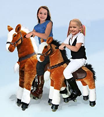 UFREE Action Pony, Large Mechanical Horse Toy, Ride on Bounce up and down and Move, Height 44'' for Children 4 to 15 Years Old