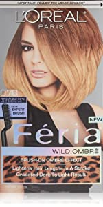 L'Oreal Feria Wild Ombre Hair Color, O70 Dark Blonde to Light Brown