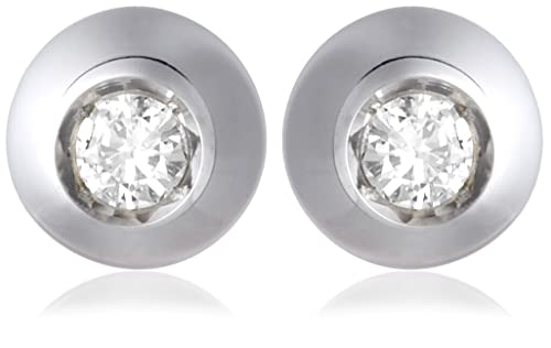 Miore Diamond Stud Earrings in 18ct White Gold