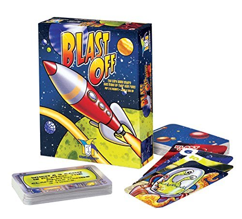 Gamewright Blast Off: The Race Into Space Card Game - 1