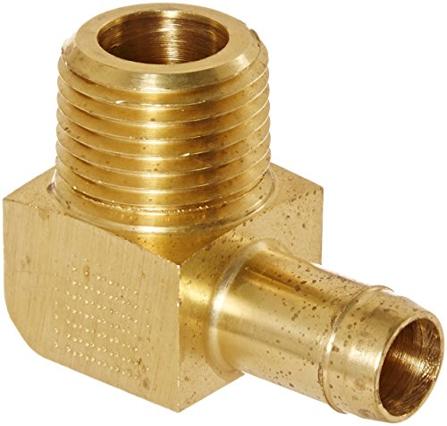 "Eaton Weatherhead 1069X8 Brass Ca360 Mini-Barb Brass Fitting, 90 Degree Elbow, 1/2"" Tube Od X 3/8"" Npt Male front-614229"