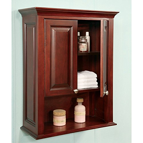 Windsor 26 5 x wall mounted cabinet finish dark cherry hand tools kit - Cherry finish bathroom wall cabinet design ...