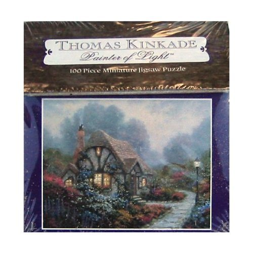 Thomas Kinkade Painter of Light 100pc. Miniature Puzzle-Chandler's Cottage