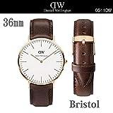 Daniel Wellington ダニエル ウェリントン クラシック 36mm 腕時計 ユニセックス (Bristolゴールド/0511DW)