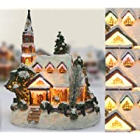 Christmas Snow Village Fiber Optic Church Chapel Winter Holiday Collectible Ships Freight Free!