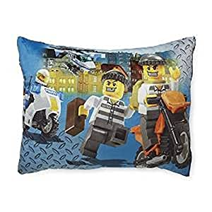 Lego Throw Pillow And Blanket Set : Amazon.com: Lego City Boy s Fleece Bed Pillow - Cops & Robbers: Home & Kitchen