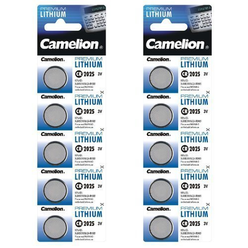 10 x CR2025 LITHIUM KNOPFZELLE 5003LC BATTERIE CAMELION