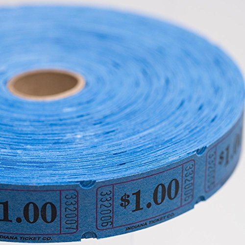 Blue $1.00 Ticket Roll