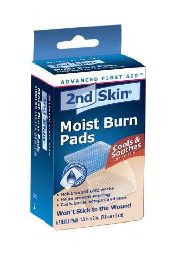 Spenco 2nd Skin Moist Burn Pads 1.5 in x 2 in, 6 Sterile Pads