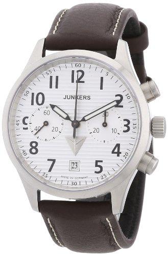 Junkers 62161 - Orologio da polso uomo, pelle, colore: marrone