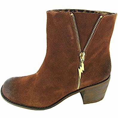 Betsey Johnson Women 'Mandda' Boot Shoe, Brown Suede, US 6