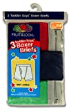 Fruit of the Loom Boys 2-7 Toddler Assorted Color Boxer Brief 3-Pack