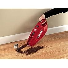 Dirt Devil Accucharge 15.6V Cordless Bagless Handheld Vacuum, BD10045RED