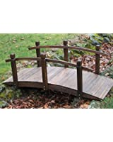 Pont de jardin en bois de 1,5 m de long