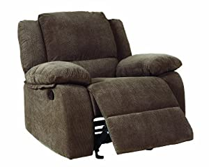 Homelegance 9725-1 Lucienne Collection Dark Olive Microfiber Glider Recliner Chair