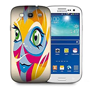 Snoogg Smiling Face Printed Protective Phone Back Case Cover For Samsung S3 / S III