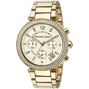 Michael Kors Women's MK5354 Parker Analog Display Analog Quartz Gold Watch