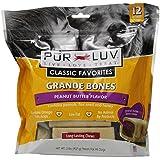 Pur Luv Grande Bones Peanut Butter Treat, 32-Ounce, 12-Count