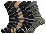 DRESS SOCKS UNISEX STRIPE COTTON BLEND 12 - PAIRS
