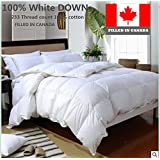 100% CANADIAN WHITE DOWN DUVET COMFORTER FILLED IN CANADA (Queen)