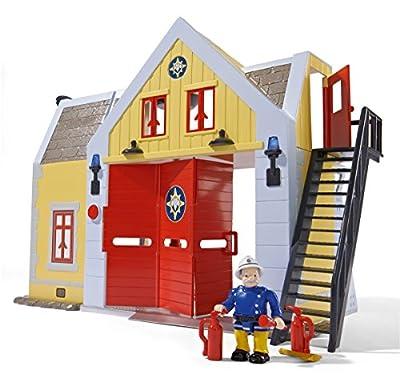 Simba 109251062 - Feuerwehrmann Sam Feuerwehrstation mit Figur 30cm