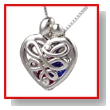 Loving Family? Sterling Mother's Heart Gift Locket with Set of 12 Birthstones - Small