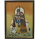 Kiran Udyog Divine Lovers Radha Krishna Gemstone Painting -138