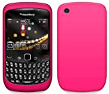 4-Ok FSIR85 - Funda silicolor para Blackberry 8520 /9300 Curve, color rosa