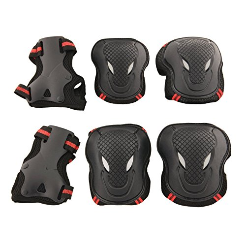 Learn More About YIMAN Safety Protective Gear S,M,L Size Keen,Elbow,Wrist 6pcs Set Protective Pads