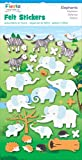 Fiesta Crafts Elephant Felt Stickers Pack of 6