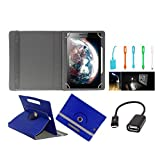 ECellStreet Tablet Flip Cover Universal Diary Folio Case With Stand And 360° Degree Rotation For Lenovo Yoga 2...