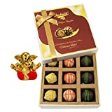 Chocholik Belgium Chocolates - 9pc Scrumptious White Collection Of Chocolates With Small Ganesha Idol - Diwali...