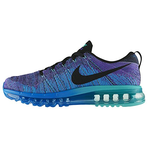 c07be7c91bf8 Nike Flyknit Air Max 620469-500 Hyper Grape Photo Blue Black Men s Running  Shoes (size 7.5)