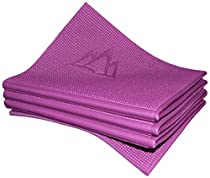 "Khataland YoFoMat - Best Travel Yoga Mat - Magenta, Extra Long 72"", 1/6"" Thick -Foldable to 12""x10""x3"", Eco Friendly, Free From Phthalates/Latex"