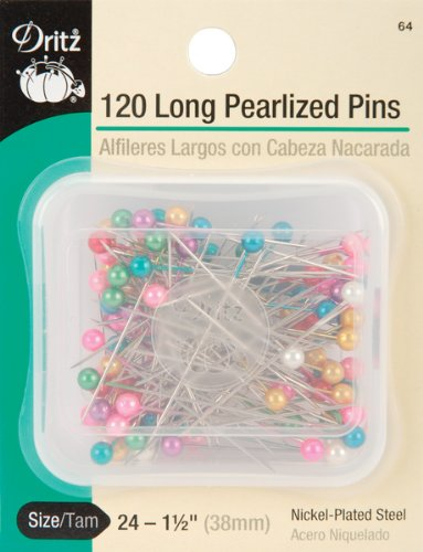 Dritz(R) Extra Long Pearlized Pins - 1-1/2 Inch 120/Pkg