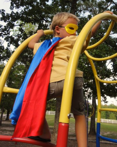 Abracadabrazoo Super Hero Superhero Satin Reversible Cape Set Blue Red Superman