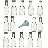 Viva Haushaltswaren - 14 leere Glasflaschen mit Schraubverschluss 100 ml