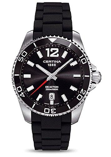 Certina Men's Watch XL Analogue Rubber Quartz C013,410,17,057,00