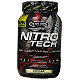 Nitro Tech MuscleTech Performance Series 2 libras, sabor vainilla