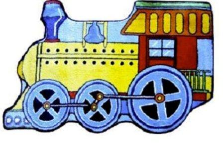 "Fun Shape High Pile Train Kids Rug Rug Size: 2'7"" X 3'11"" front-47575"