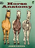 Horse Anatomy (Dover Nature Coloring Book) (0486448134) by Green, John