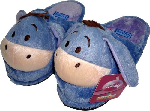 DISNEY WINNIE THE POOH EEYORE Boys Girls Slippers Soft Plush Stuffed Cuddly Toys Mens Womens Ladies Childrens Kids Toy