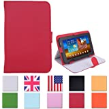 HDE® Tablet Case 7 Inch Universal Folio Leather Flip Cover - Red