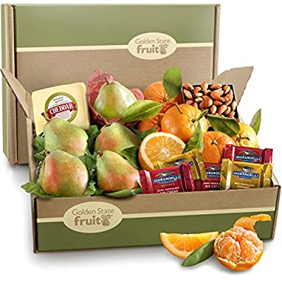 Harvest Favorites, Fruit and Gourmet Gift Box by Golden State Fruit