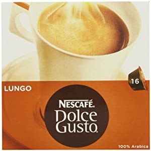 Nescafé Dolce Gusto Cafe Lungo 16 Capsules (Pack of 3, 24 coffee pods and 24 milk pods, Total 48 Capsules, 24 servings)