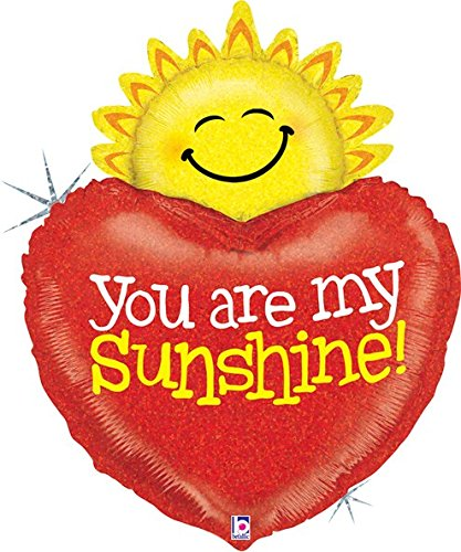 "37"" Holographic You Are My Sunshine Balloon"