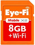 Eye-Fi 8 GB Mobile X2 SDHC Class 6 Wireless Memory Card EYE-FI-8MD